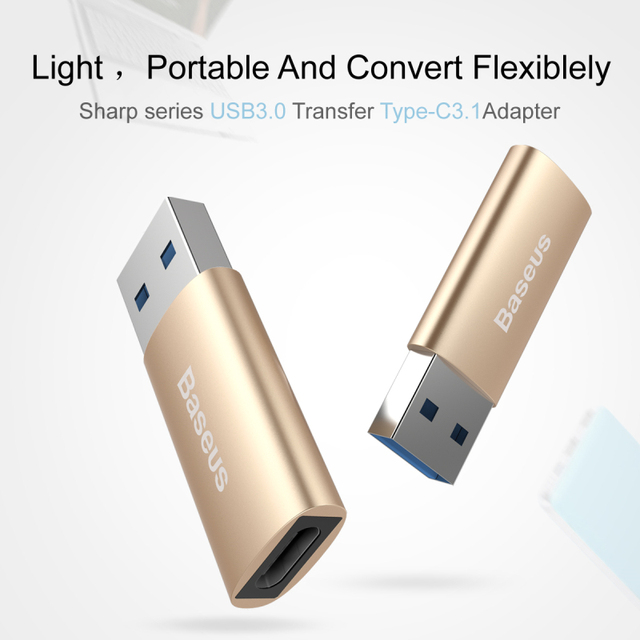Original USB 3.0 to Type-c 3.1 Adapter Genuine for Apple MacBook Expander Business office Mobile phone charging head for xiaomi4