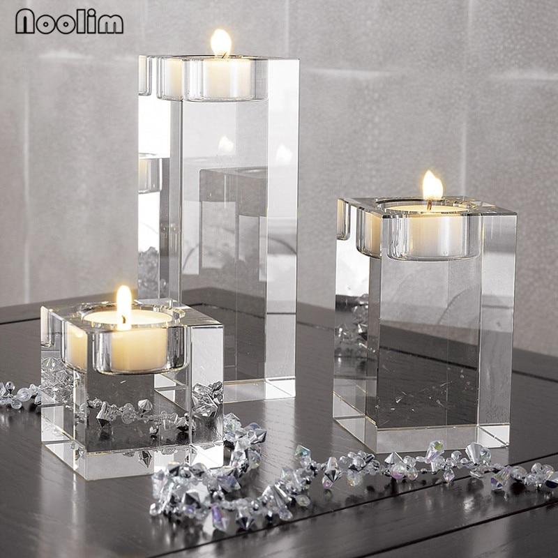 NOOLIM Religious Candle Holders Tealight Candlestick Wedding Decorations Centerpieces Bonus 3pcs Candles Tealight