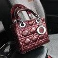 Mini Women Vag Leather Enamelled Three Grid Bag Style Brand Package Bag Lattice Women Messenger Bags Superstar Women Handbag