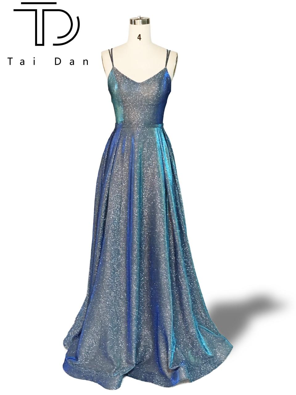 Gorgeous Prom Dress A-line Deep V-neck Sleeveless Formal Evening Prom Dress Long Glitter Shinning Girl Prety Dress Party Gown