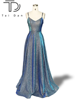 Gorgeous Prom Dress A line Deep V neck Sleeveless Formal Evening Prom Dress Long Glitter Shinning Girl Prety Dress Party Gown
