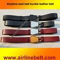 Envío libre 100% cuero genuino del zurriago hebilla del cinturón de seguridad cinturón de avión aviones para hombres Correa masculina de lujo jeans vaquero
