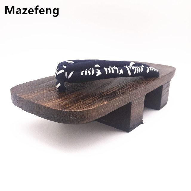 Mazefeng Talon Hommes Sabots Sandales Été Tongs Imprimer Geta HID2E9