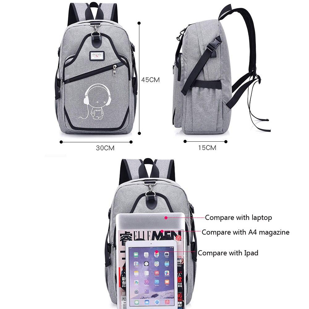 USB Charging Computer Bag Casual Backpack for Men women Business teens School Bag College Schoolbag Oxford travel backpacks