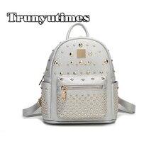 Модная повседневная женская обувь из PU искусственной кожи мешок опрятный студент школьная сумка мини заклепки Рюкзаки рюкзаки для девочек-подростков рюкзак Mochila