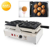 MARS Electric Non-stick Lollipop Shaped Waffle Cake Pops Makers 220v 110v Waffle On A Sticks Machines Baker Iron Making Pan
