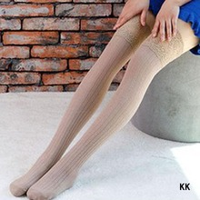 6 Colors Thigh High Socks Girls Stockings Lace Winter Warm Socks Women Sexy Stocking Medias Pantyhose Stockings Knee High Socks