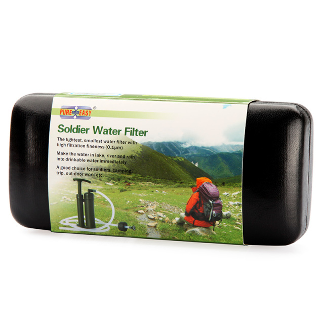 Pure Easy 0.1 Micron 2000L Portable Ceramic Soldier Water Filter Purifier Cleaner for Outdoor Survival Hiking Camping Emergency