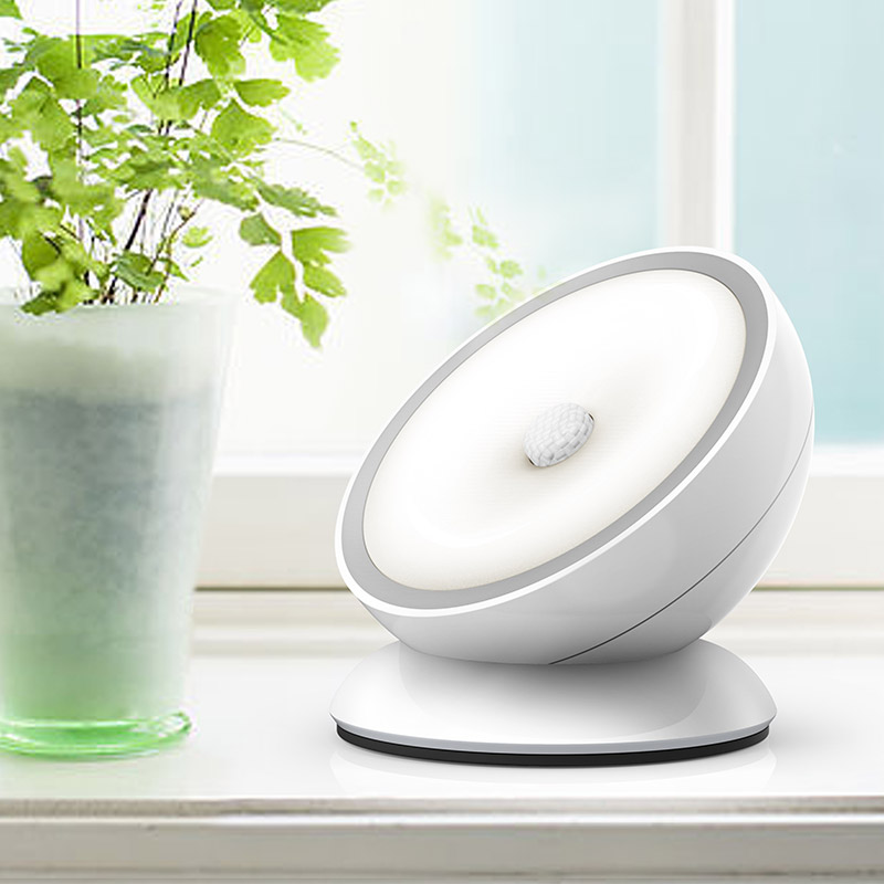 360 Degree LED Night Light Rotate Magnetic IR Motion Sensor Rechargeable For Home Hallway Pathway Staircase Wall Light