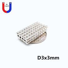 купить 2000pcs 3x3 mm N35 Mini Super Strong Powerful Neodymium Magnet Round Rare Earth Permanent Magnets 3*3mm 3x3 дешево