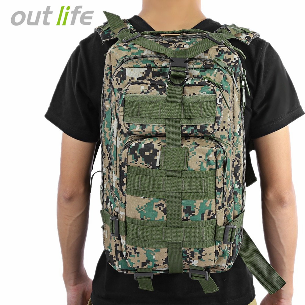 Outlife 30L 3P Tactical Backpack Military Oxford Sport <font><b>Bag</b></font> for Camping Traveling Hiking Trekking <font><b>Bags</b></font> Outdoor Backpack 9 colors