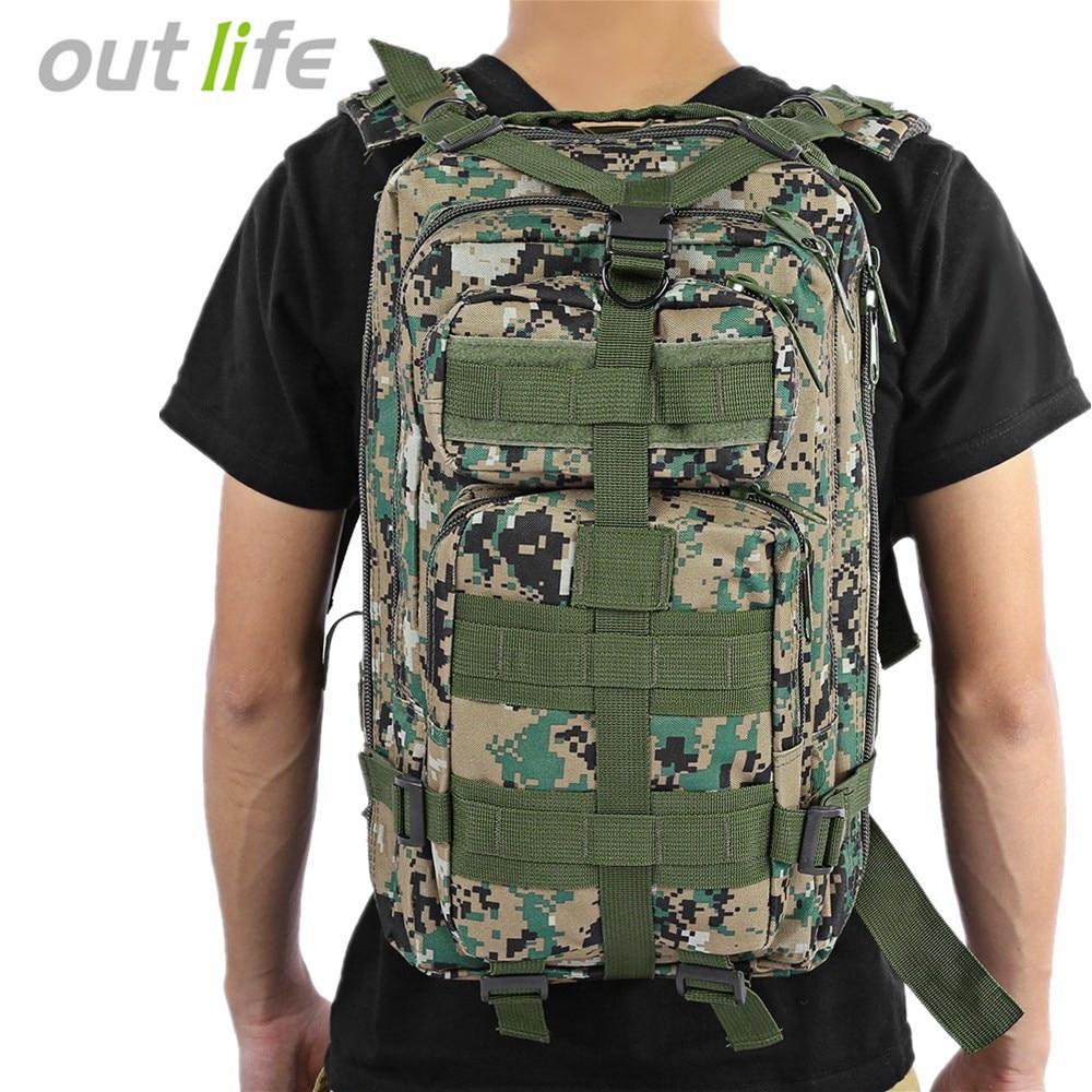 Outlife 30L 3 p Taktische Rucksack Militär Oxford Sport Tasche für Camping Reisen Wandern Trekking Taschen Outdoor Rucksack 9 farben