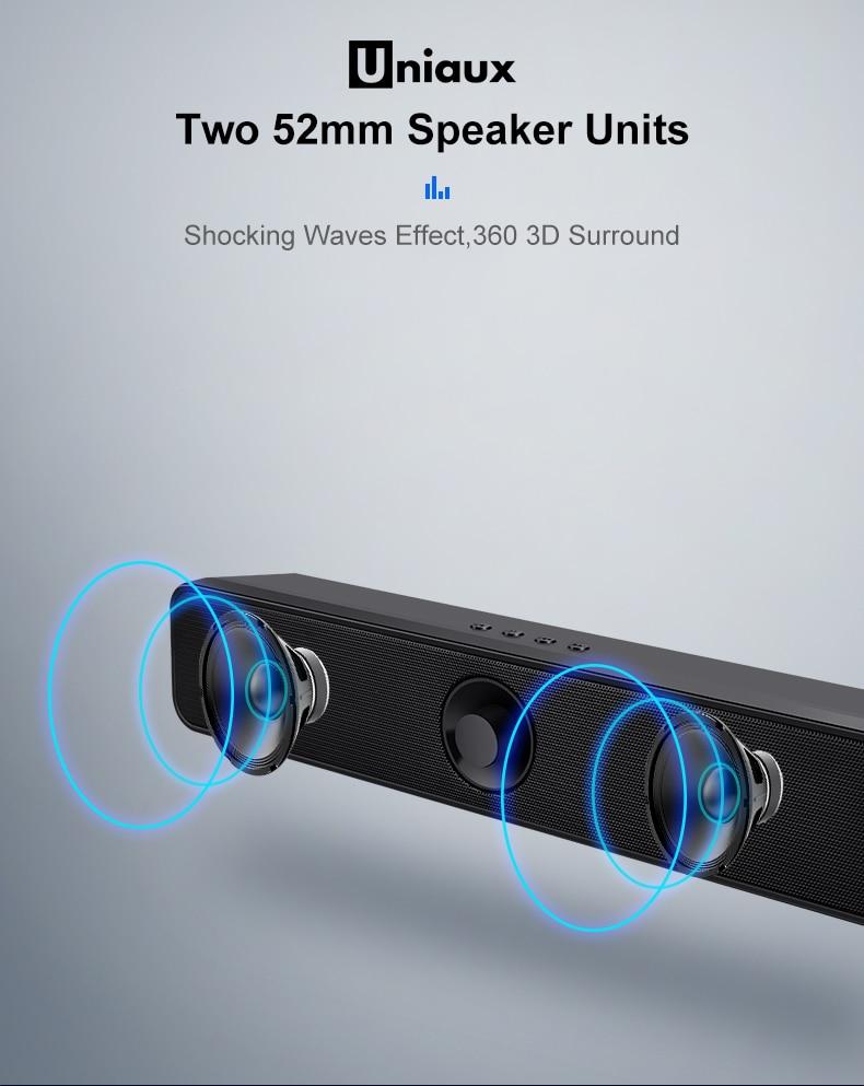 Image 5 - TV Soundbar Blueto oth Subwoofer Bass Speaker Built in Battery Mini Line in TF USB Television Speaker Home Theater-in Soundbar from Consumer Electronics