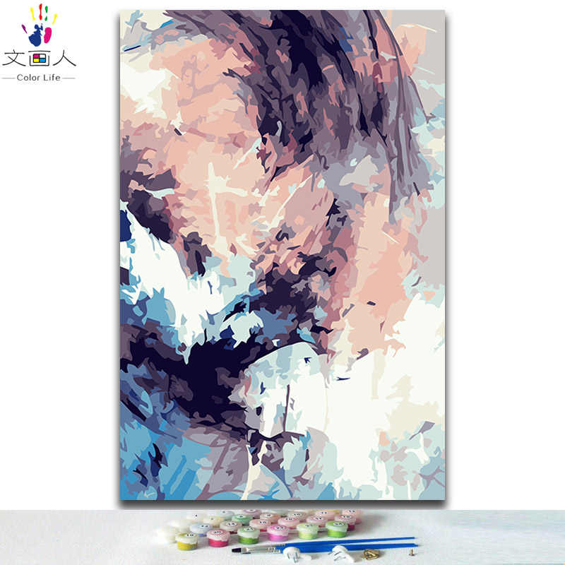 diy coloring painting by numbers abstract modern Simple scenery pictures paint by numbers with colors for adults diy frame