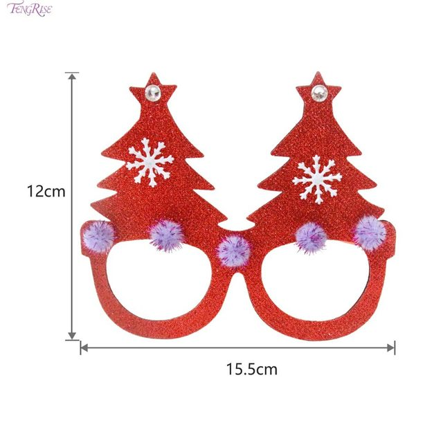 fengrise diy glasses party christmas deciration supplies glasses funny christmas tree decor deer ornaments christmas costume - Funny Christmas Tree Ornaments