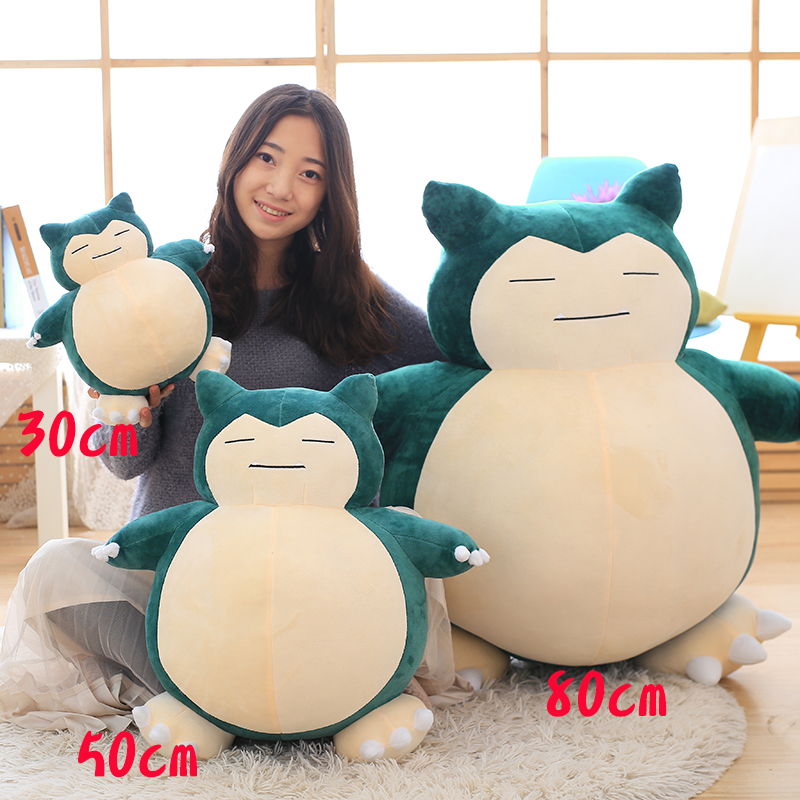 Candice guo plush toy stuffed doll cartoon animal Snorlax fat blue Monster pillow cushion birthday present christmas gift 1pc hot sale 1pc 35 15cm cartoon smile naughty pig plush doll hold pillow animal stuffed toy children birthday gift free shipping