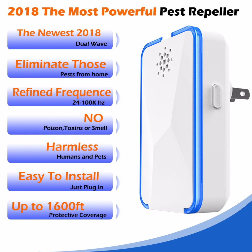 2Pcs Electronic Ultrasonic Insect Control Anti Mosquito Repeller Repellent For Mouse Cockroach Rat Pest Rejection Pest Reject in Repellents from Home Garden