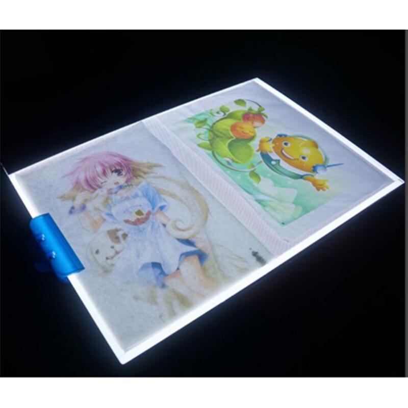 Malowanie diamentowa ściegu możliwość przyciemniania Ultra cienkie A3 światła LED Tablet Pad stosuje się do wtyczki USB diament hafty robótki mozaika narzędzia w Diamentowy obraz ścieg krzyżykowy od Dom i ogród na  Grupa 2