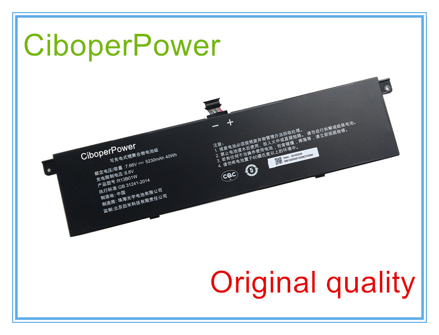 все цены на Original laptop battery for 7.66V 40Wh Laptop Battery for 13.3 R13B01W онлайн