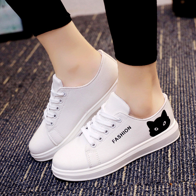 Fashion Women Canvas Shoes Woman Lace Up Casual Flats New Arrive