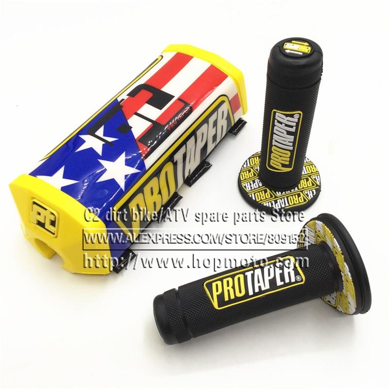Automobiles & Motorcycles Motorcycle Protaper Grips Motocross Handle Bar Pads Dirt Pit Bike 1-1/8 Or 7/8 Handlebar Rubber Gel Dual Density Mx Grips Shrink-Proof