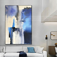 Abstract canvas painting wall art pictures for living room wall decor home hallway acrylic yellow texture caudros decoration