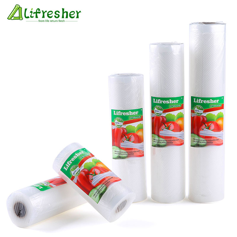 Lifresher Vacuum Sealer Bags Roll Vacuum Sealer Food Saver Bag Sac For Food Vacuum Bag 15 20 25 28 Dropshipping(China)