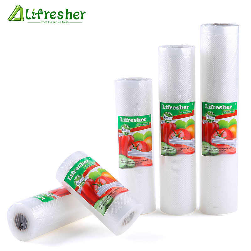 Lifresher Vacuum Sealer Bags Roll Vacuum Sealer Food Saver Bag Sac For Food Vacuum Bag 15 20 25 28 Dropshipping