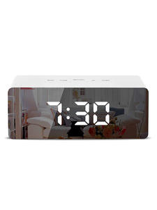 Alarm-Clock Mirror Wake-Up-Light Temperature-Display Snooze LED Time Digital Home-Decoration