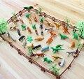 Simulação Zoológico 68 Pçs/set Contendo Cerca de Coco Sólida Tiger Dinossauro Brinquedos Modelo para As Crianças