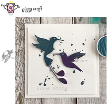 Piggy Craft metal cutting dies cut die mold Hummingbird Kolibri Scrapbook paper craft knife mould blade punch stencils dies
