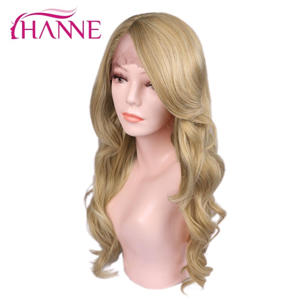 Perruque avant en dentelle Blonde HANNE 613 perruque longue ondulée perruques avant en dentelle naturelle Cosplay pour femmes noires perruques synthétiques cheveux