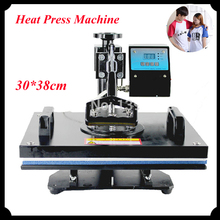 1pc 30 38cm T shirt Swing Away Heat Press Machine Shaking Head Heat Transfer Sublimation Machine