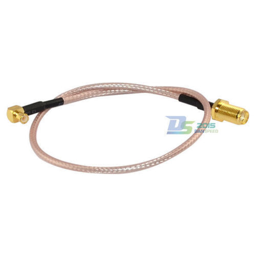 Low Loss SMA Female to MCX Right Angle Male RF Coaxial RG316 Antenna Wire 30cm 10 pcs rf coaxial adapter sma female to mcx male straight new