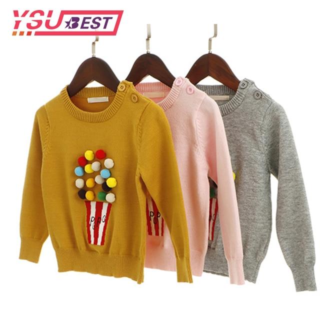 330ee78dc Spring Winter Autumn Baby Girls Sweater Kid Knitwear Popcorn ...
