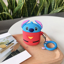 Cute cartoon Toy story  stitch case for Apple Airpods wireless bluetooth silicone earphone Iphone Air Pods headphone