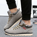 Plus Size Leather Men Boots Fashion Men Shoes Casual Lace Up Brand Designer Men Winter Warm Shoes HighTopMen Boots Winter Shoes