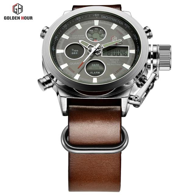 57adb37f129 Relogio Masculino Luxury Brand Men Watches Men s Quartz Hour Analog Digital  LED Sports Watch Men Army Military Wrist Watch