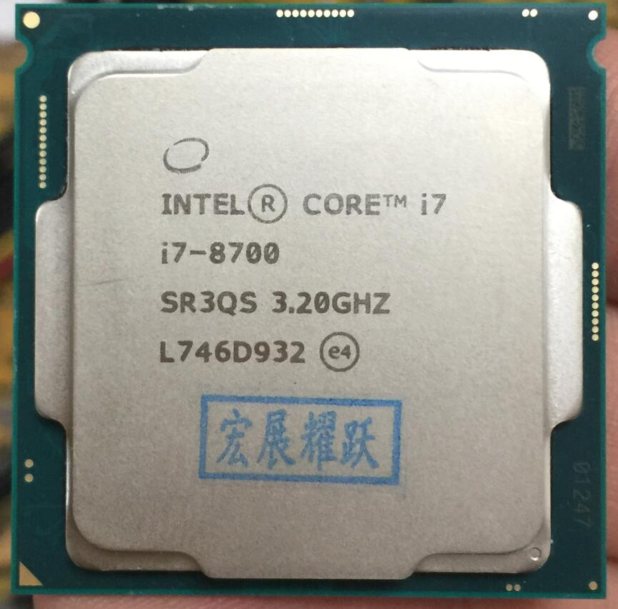 Intel Core 8 series PC Computer Desktop Processor I7 8700 I7-8700 CPU LGA1151 Six Core cpu