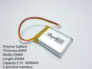Image 2 - 폴리머 리튬 배터리 582535 3.7 v, 602535 062535 도매 ce fcc rohs msds 품질 인증을 사용자 정의 할 수 있습니다