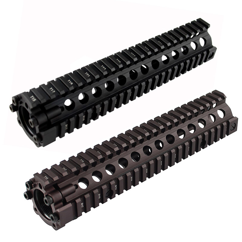 Hot sale split type 9 6 inch Picatinny rail aluminum handguard rail system BK CB for