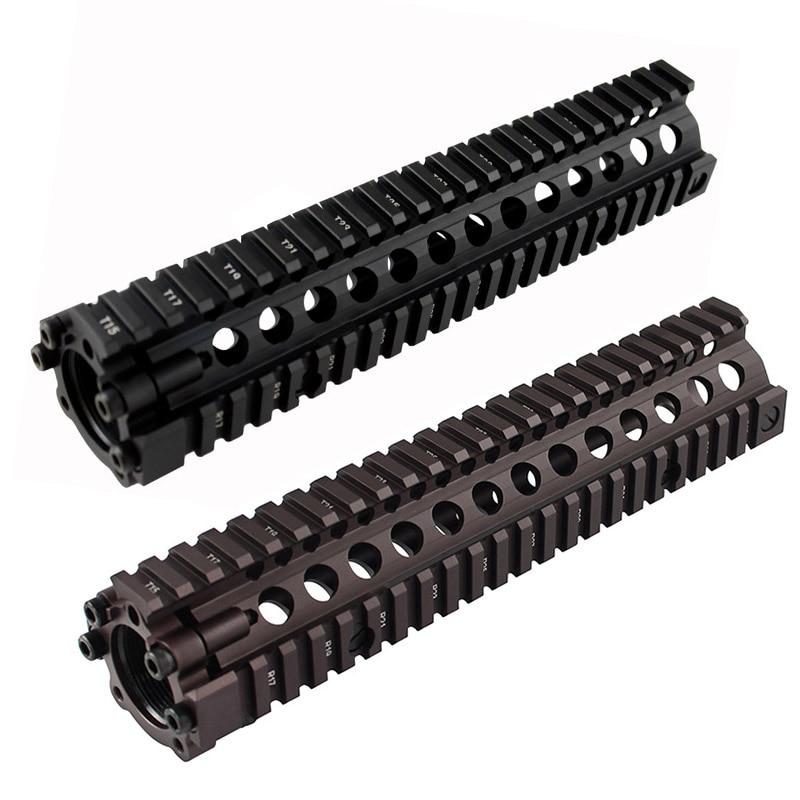 Hot Sale Split Type 9.6 Inch Picatinny Rail Aluminum Handguard Rail System BK/CB For Airsoft AEG M4/M16