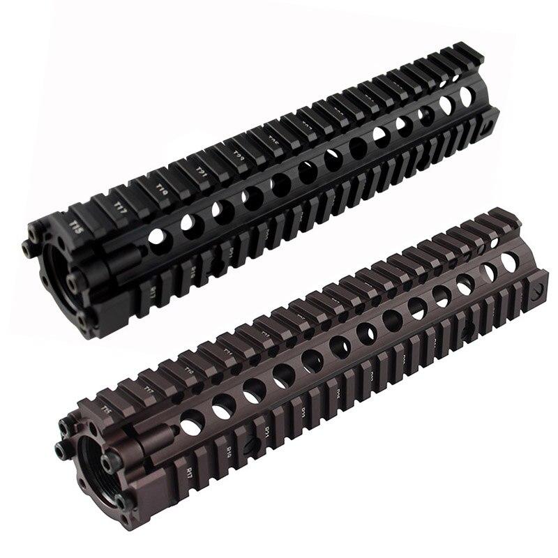 Offre spéciale split type 9.6 pouces Picatinny rail en aluminium garde-corps système BK/CB pour airsoft AEG M4/M16
