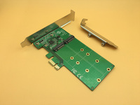 Free Shipping PCI Express To 2 X NGFF M 2 Key B Expansion Card SSD Adapter