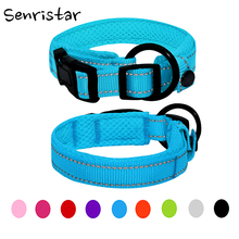 Padded Mesh Nylon Reflective Dog Collar For Small Medium Large Soft Safe Breathable Heavy Alloy Pet Cat Puppy