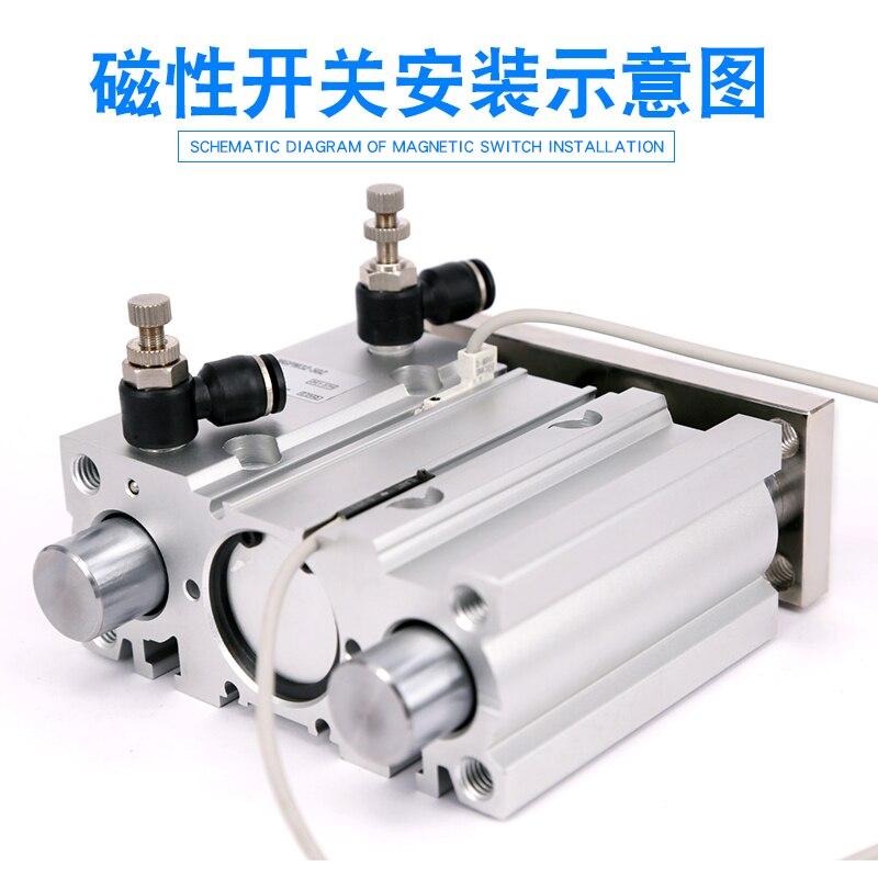 air Cylinder MGPM40-75Z MGPM40-100Z Thin cylinder with rod Three axis three bar Pneumatic components MGPL40-75Z MGPL40-100Z AFR