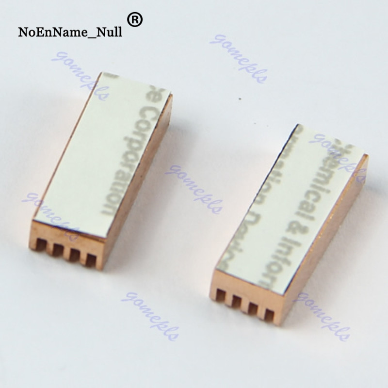 8pcs Copper Adhesive Back Heatsink For PC Chipset DDR DDR3 RAM Memory Cooling
