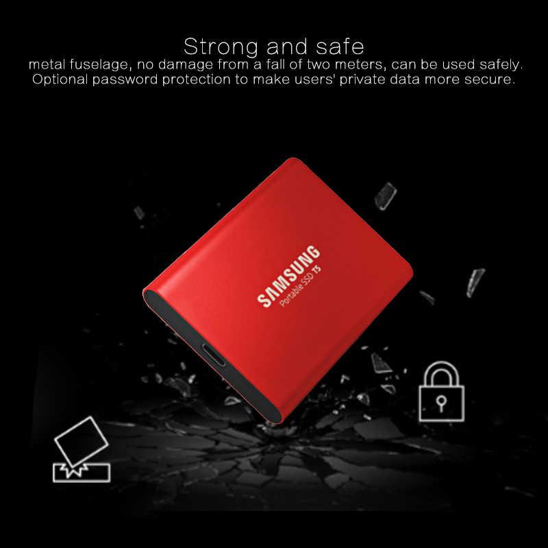 """Samsung przenośny dysk SSD T5 250GB 500GB 1TB zewnętrzny w stanie stałym twardy HD napęd 2.5 """"USB 3.1 Gen2 (10 gb/s) do laptopa pulpit"""