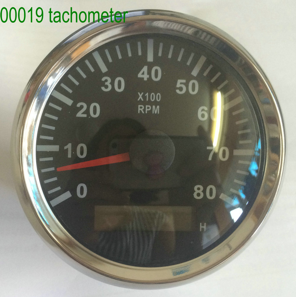 US $49 34 |tachometer speedometer for ship boat revolution meter tachoscope  for motor generator marine instrument and apparatus 85mm52mm-in Electric