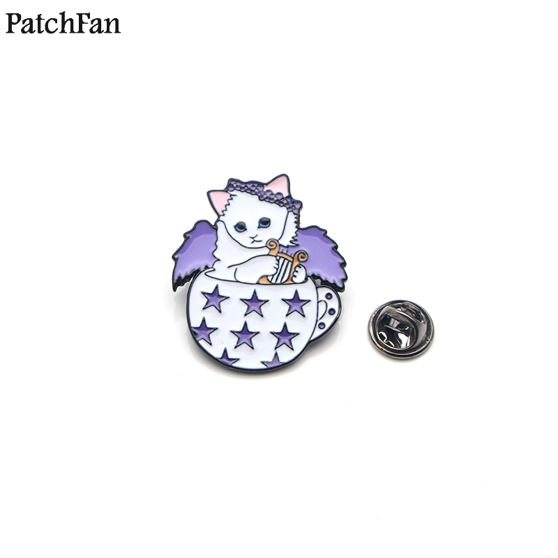 Home & Garden 20pcs/lot Patchfan Music Angle Cat Zinc Tie Cartoon Funny Pins Backpack Clothes Brooches For Men Women Hat Badges Medals A1375 Utmost In Convenience Arts,crafts & Sewing